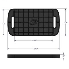 S&B Filters Tool Tray Silicone Large Color Charcoal
